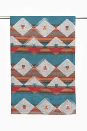 Throw Blanket, a cold weather accessory used by North American Indians. Backgrounds and textures.