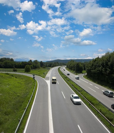 European highway Stock Photo - 8207323