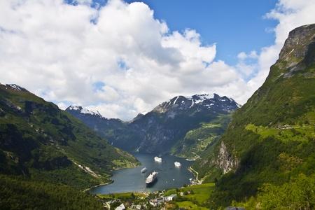 view of Geiranger fjord, Norway Stock Photo - 10458215
