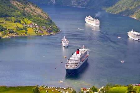 view of Geiranger fjord, Norway