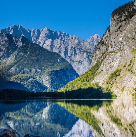 The Koenigssee lake near Berchtesgaden, Bavaria, on a sunny day in summer photo