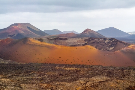 timanfaya: Dramatic view of Timanfaya national park, Lanzarote, Canary islands,