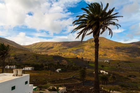 view to Haria village,  Lanzarote, Canary Islands, Spain photo
