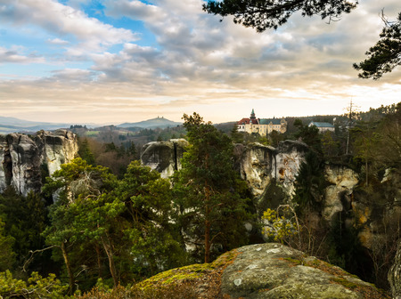 stoney: Sandstone formations in Bohemian Paradise, Czech Republic Stock Photo