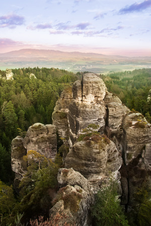 Beautiful rocks in Bohemian Paradise, Czech republic