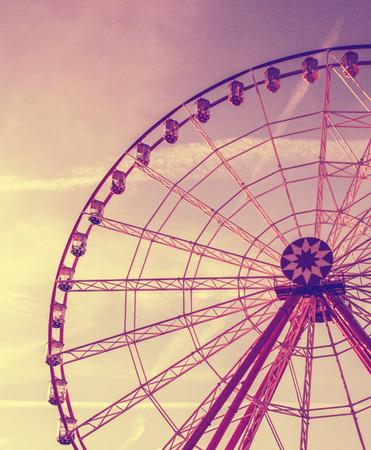 Vintage retro ferris wheel in the park Stock Photo - 32619514