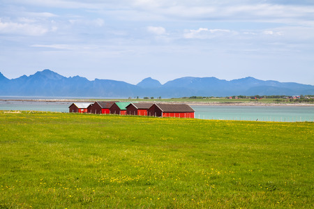 boathouse: Norwegian traditional boathouse in countryside, Lofoten island