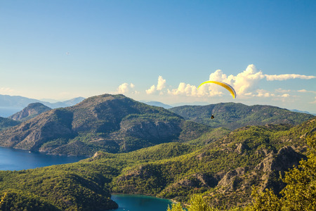 oludeniz: oludeniz lagoon in sea landscape view of beach, Turkey