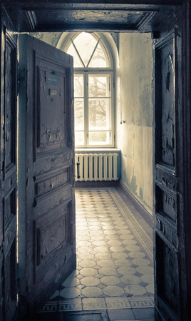 abandoned room: Abandoned room in an old shabby house