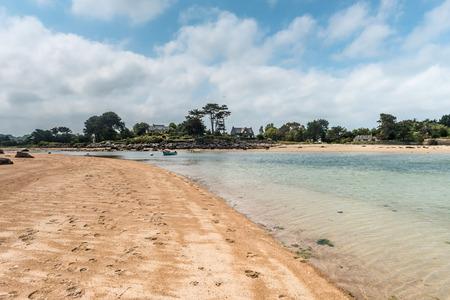 bretagne: scenic coastal landscape of Bretagne, northern France Stock Photo