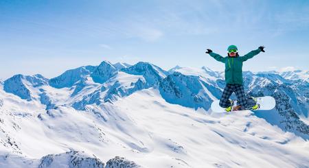 winter sport: snowboarder in Solden, Austria, extreme winter sport