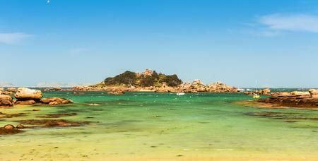 scenic coastal landscape of Bretagne, northern France Stock Photo