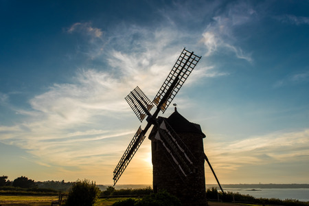 bretagne: old Dol de Bretagne windmill Brittany France