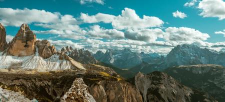 dolomite: Snow and mountain view  Italy Alps Dolomites