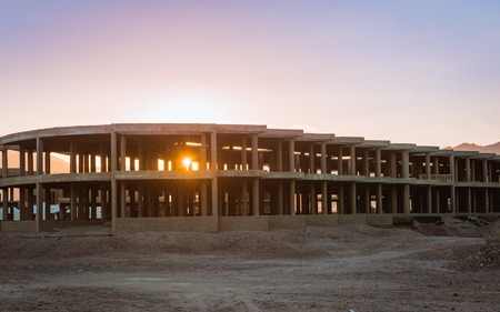 uncompleted: Uncompleted Resort Building, abandonned in Egypt, Dahab