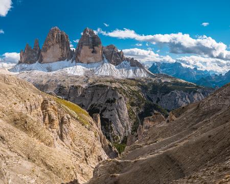 dolomite: Scenic view of Italian Dolomites, Lavaredo, sunny day