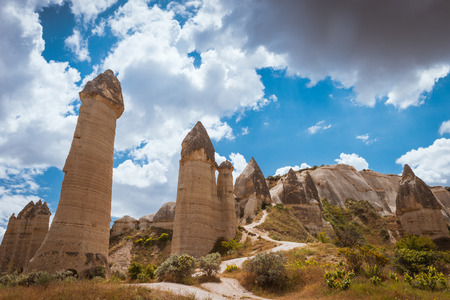goreme: love valley Goreme Cappadocia Turkey in summertime Stock Photo