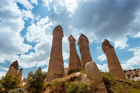 love valley Goreme Cappadocia Turkey in summertime Stok Fotoğraf