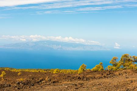 garcia: petrified lava flows of Teide volcano Roques de Garcia, Teide National park, Tenerife, Canary islands, Spain Stock Photo