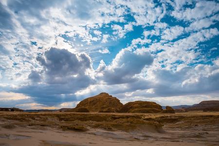 monte sinai: Egipto Sinaí vista desierto colinas rocosas cielo azul