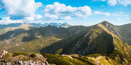 expanse: view to Tatra Mountains national park in Zakopane