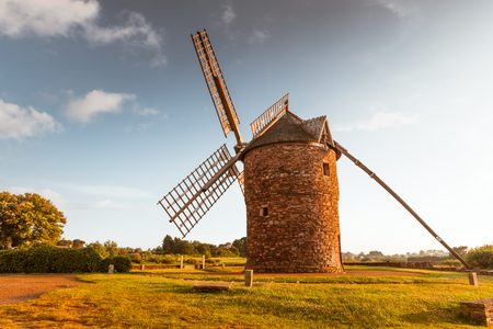 old Dol de Bretagne windmill Brittany France