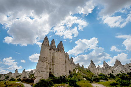 pene: Rock formations in Love Valley of Cappadocia , Turkey