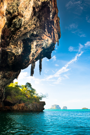 phra nang: Phra Nang Beach at Railay near Ao Nang Krabi on Andaman Sea Thailand