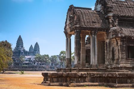 Angkor Wat Temple, Siem reap, landmark of Cambodia Фото со стока