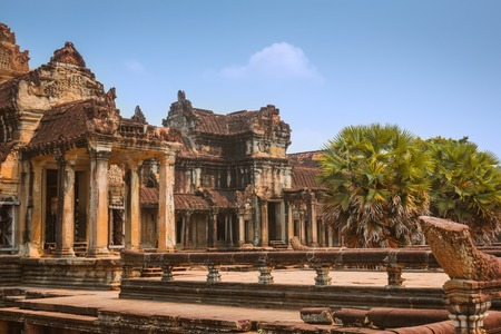 Angkor Wat Temple, Siem reap, landmark of Cambodia Stock Photo