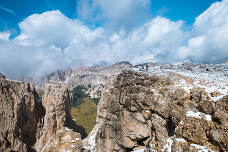 Summer Path to Sella Ronda Dolomites Italy Stock Photo