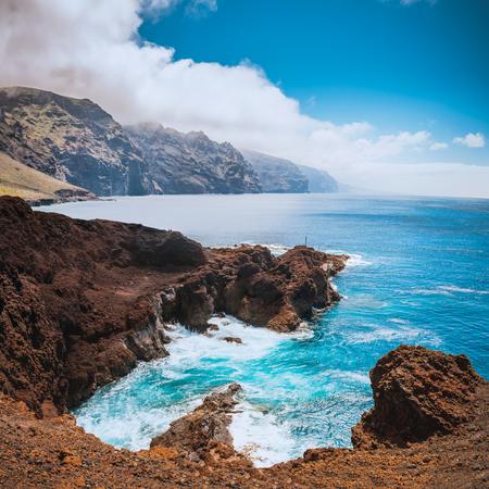 Wonderful natural ocean pool at the Tenerife island Stock Photo