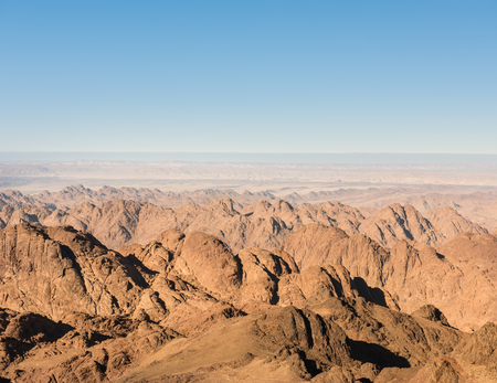 Gold arid desert landscape on Sinai, Egypt