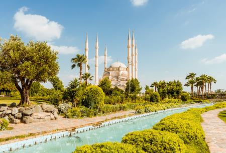 Summer view to Turkey Adana Sabanci Central Mosque