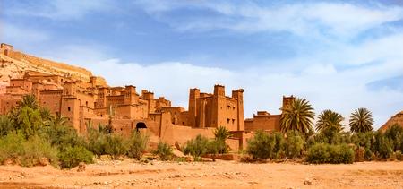 Amazing view of Kasbah Ait Ben Haddou near Ouarzazate in the Atlas Mountains of Morocco. 版權商用圖片