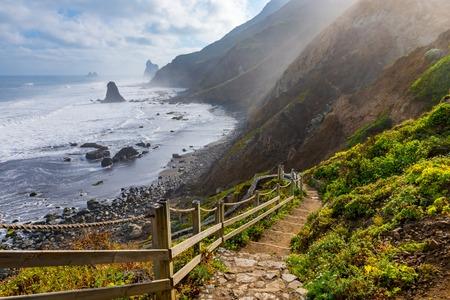 ocean shore near Almaciga, Anaga, Tenerife island