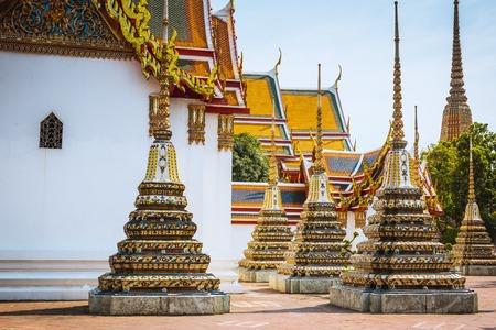 Wat Pho in Bangkok, Thailand. Wat Pho is landmark also known as temple of reclining Buddha Standard-Bild