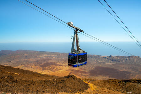Mount Teide Cable car going up to volcano