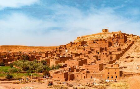 Amazing view of Kasbah Ait Ben Haddou near Ouarzazate in the Atlas Mountains of Morocco. Standard-Bild - 130565693