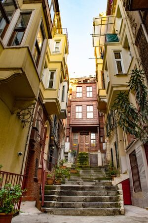 Houses in a poor district Fatih of Istanbul, Turkey 版權商用圖片