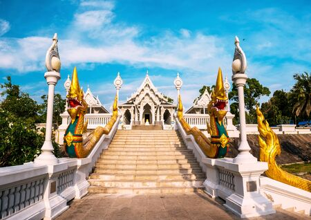 Wat Kaew temple in Krabi, Thailand. Wat Kaew is one of the main temples in Krabi province
