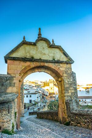 Puerta de Felipe V or Arco de Felipe V, Historic and Artistic Center of Ronda, Malaga, Andalusia, Spain, Iberian Peninsula