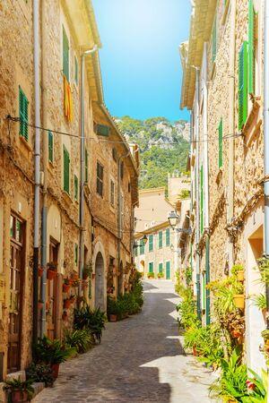 outdoors Valldemossa, famous old mediterranean village of Majorca island Valldemossa, Mallorca, Spain