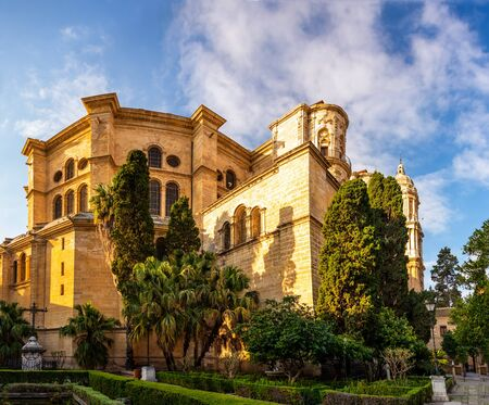 Malaga Cathedral in Andalusia, Costa del Sol tourist resort Spain Stock Photo