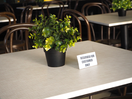 reserved: reserved table Stock Photo