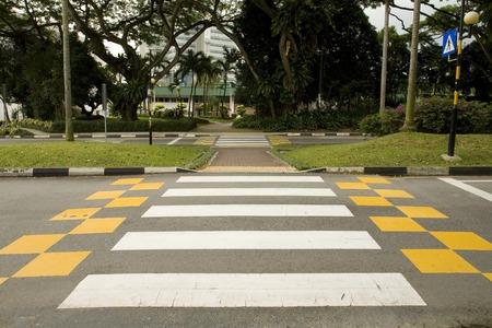 paso de cebra: Paso de peatones en Singapur