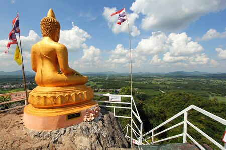 Buddha statue on the top of the mountain, Wat Tham Pha Chut, Na Wang District, Nong Bua Lamphu Province, Thailand