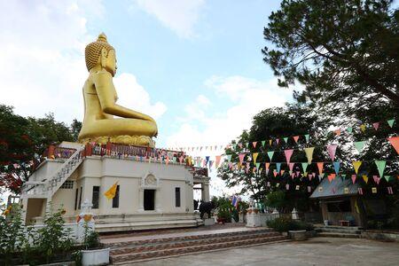 Big Buddha located on the mountain.