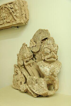 Garuda sculpture of Lanna art in the 18th-19th century.