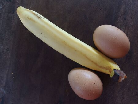 The use of chicken eggs and bananas in comparison with males